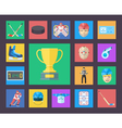 Hockey icons set Flat style vector image