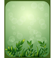 A stationery with green leaves vector image vector image