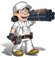 Handyman Plumber Color it Yourself vector image