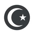 Monochrome round Turkey symbol icon vector image