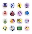 Education comics icons vector image