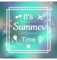 Summer Design Blur Beach Background Summer Time vector image