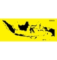map of Indonesia vector image
