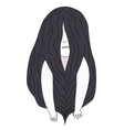 Braided brunette girl vector image