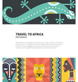 Travel to africa vector image