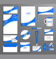 blue corporate id template company style vector image