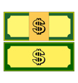 Cartoon money dollar banknote paper bill isolated vector image
