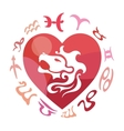Leo zodiac sign vector image