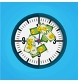 Office clock and Money vector image
