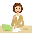 office secretary vector image