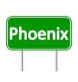 Phoenix green road sign vector image