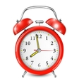 Red Alarm Clock Isolated On White vector image