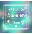 Summer Design Blur Beach Background Summer Time vector image
