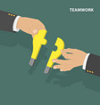 teamwork flat isometric low poly concept vector image