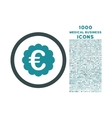 Euro Quality Seal Rounded Icon with 1000 Bonus vector image