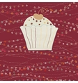 Cupcake valentine card EPS 8 vector image