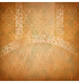 Vintage lace banner vector image vector image