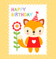 cute with a fox vector image