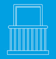 small balcony with window icon outline style vector image