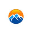 mountain adventure travel round abstract logo vector image