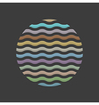 Colored waves in circle element for design vector image