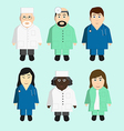 Doctors character collection vector image