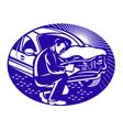 auto insurance assessor vector image