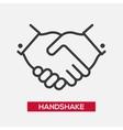 Business handshake single icon vector image