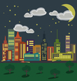 City 1 Night vector image