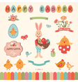 easter graphic elements set vector image