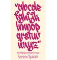 Graffiti alphabet - Handwritten - lowercase vector image