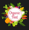 organic food advertisement banner with fresh vector image