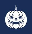 Pumpkin Head Silhouette vector image