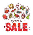 summer sale design with doodles vector image