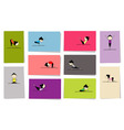 yoga practice cards vector image