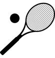 silhouette of tennis racket vector image vector image