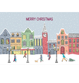 Christmas and New year greeting card Hand drawn vector image
