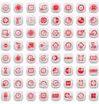 big clock icons set vector image vector image