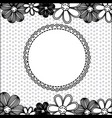 monochrome pattern dotted with flowers background vector image
