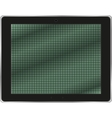 Realistic tablet pc computer isolated on white vector image