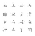 home furniture icons set line icon vector image
