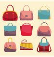 fashion bags set icon vector image
