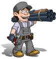 Handyman Plumber Gray vector image
