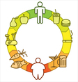 Obesity and lifestyle vector image