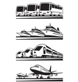 Passenger transportation vehicles vector image vector image