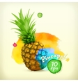 Pineapple watercolor vector image vector image