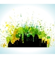 Color Paint Splashes Eco Green City Background vector image vector image