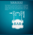 bar signboard icon isolated on blue background vector image
