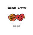 brain icon and heart logo design templateheart vector image