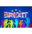 Brexit Text Isolated art colorfull hand vector image
